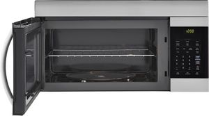 """LMV1762ST LG 30"""" 1.7 cu. ft. Capacity Over-The-Range Microwave with 300 CFM Exhaust and EasyClean - Stainless Steel"""