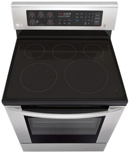"LRE3060ST LG 30"" Electric Single Oven Free Standing  Range with 5 Cooktop Elements and EasyClean - Stainless Steel"