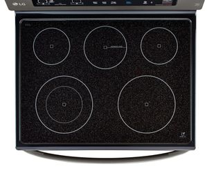 "LRE3061BD LG 30"" Electric Range with 6.3 cu. ft. Single Oven and EasyClean - Black Stainless Steel"