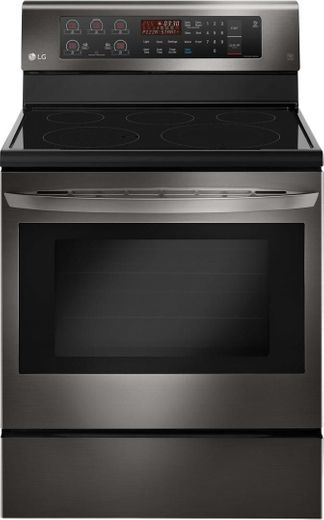 """LRE3193BD LG 30"""" 6.3 cu. ft. Free Standing Electric Range with True Convection and EasyClean - Black Stainless Steel"""