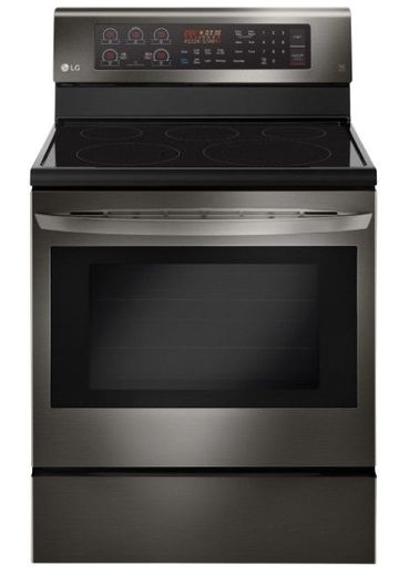 "LRE3194BD LG 30"" 6.3 cu. ft. Free Standing Electric Range with True Convection and EasyClean - Black Stainless Steel"