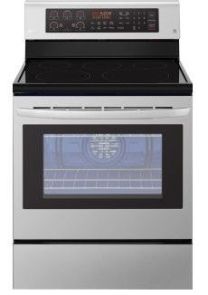 """LRE3194ST LG 30"""" 6.3 cu. ft. Free Standing Electric Range with True Convection and EasyClean - Stainless Steel"""