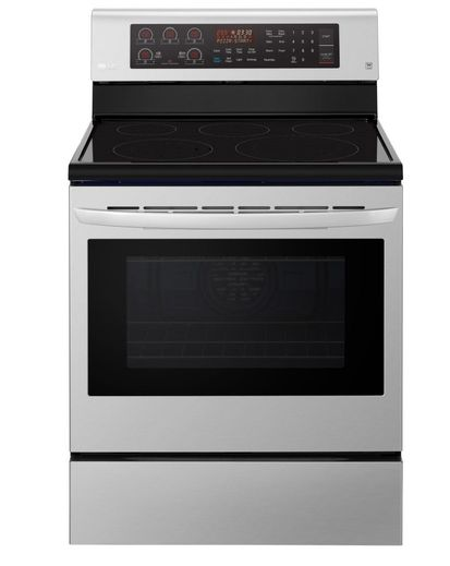 "LRE3194ST LG 30"" 6.3 cu. ft. Free Standing Electric Range with True Convection and EasyClean - Stainless Steel"