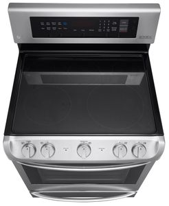 """LRE4215ST LG 30"""" Electric Single Oven Range with ProBake Convection and EasyClean - Stainless Steel"""