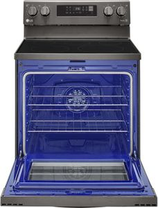 """LREL6323D LG 30"""" WiFi Enabled 6.3 cu.ft. Electric Range with Convection and AirFry - Black Stainless Steel"""