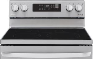 """LREL6323S LG 30"""" WiFi Enabled 6.3 cu.ft. Electric Range with Convection and AirFry - Stainless Steel"""