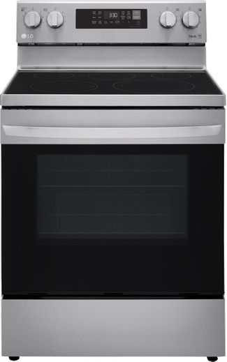 "LREL6323S LG 30"" WiFi Enabled 6.3 cu.ft. Electric Range with Convection and AirFry - Stainless Steel"