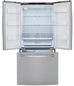 """LRFCS2503S LG 33"""" French Door Standard Depth Refrigerator with Ice Maker and SmartDiagnosis - PrintProof Stainless Steel"""