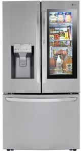 "LRFVS3006S LG 36"" French Door Wifi Refrigerator with InstaView Door in Door and Craft Ice Maker - PrintProof Stainless Steel"