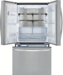 """LRFXC2406S LG 36"""" French Door Counter Depth Refrigerator with Smart Cooling Plus System and LG SmartThingQ - PrintProof Stainless Steel"""