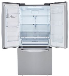 "LRFXS2503S LG 33"" French Door Standard Depth Refrigerator with DoorCooling+ and SmartDiagnosis - PrintProof Stainless Steel"