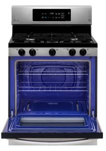 """LRG3060ST LG 30"""" Gas Single Oven Fress Standing Range with 5 Cooktop Burners and EasyClean - Stainless Steel"""