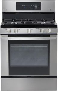"""LRG3061ST LG 30"""" Gas Range with 5 Sealed Burners and Storage Drawer - Stainless Steel"""