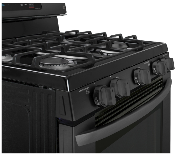 Lrg3193bm Lg 30 5 4 Cu Ft Capacity Gas Single Oven Range With Evenjet Fan Convection And