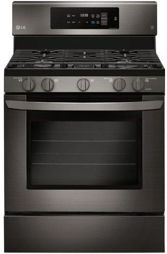 """LRG3194BD LG 30"""" Single Oven Convection Gas Range with EasyClean and Self Clean - PrintProof Black Stainless Steel"""