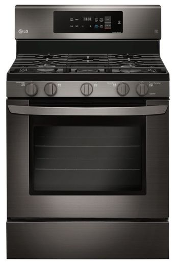 "LRG3194BD LG 30"" Single Oven Convection Gas Range with EasyClean and Self Clean - PrintProof Black Stainless Steel"