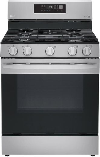 "LRGL5823S LG 30"" 5.8 cu.ft. Wifi Enabled Gas Range with Convection and AirFry - Stainless Steel"