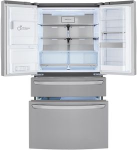 "LRMDS3006S LG 36"" 30 cu.ft. 4 Door French Door Refrigerator with Craft Ice Maker and Smart Wifi - PrintProof Stainless Steel"