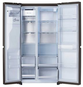 """LRSDS2706D LG 36"""" 27 cu ft Side by Side Refrigerator with Craft Ice - Print Proof Black Stainless Steel"""