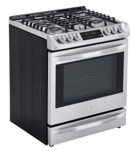 "LSD4913ST LG 30"" Smart WiFi Enabled Dual Fuel Slide In Range with ProBake Convection and EasyClean - Stainless Steel"