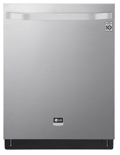 "LSDT9908SS LG Studio 24"" Top Control Smart Wi Fi Enabled Dishwasher with SmoothTouch Controls and Quadwash - PrintProof Stainless Steel"