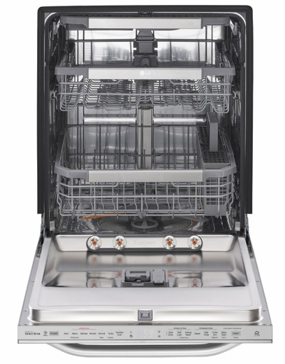 "LSDT9908ST LG 24"" Studio Series Top Control Smart Wi Fi Enabled Dishwasher with SmoothTouch Controls and Quadwash - Stainless Steel"