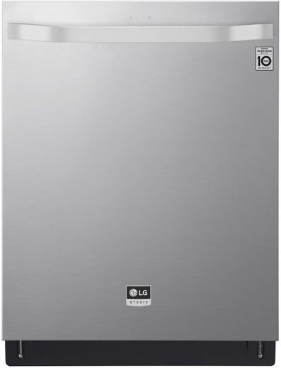"""LSDT9908ST LG Studio 24"""" Top Control Smart Wi Fi Enabled Dishwasher with SmoothTouch Controls and Quadwash - Stainless Steel"""