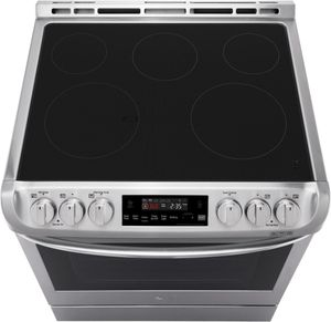 """LSE4611ST LG 30"""" 6.3 Cu. Ft. Capacity Slide-In Electric Range with ProBake Convection and EasyClean Interior  - Stainless Steel"""