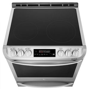 """LSE4615ST LG 30"""" Smart WiFi Enabled Electric Slide In Range with ProBake Convection and EasyClean - Stainless Steel"""
