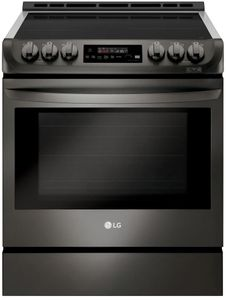 "LSE4616BD LG 30""  Wi-Fi Enabled Slide-In Induction Range with Easy Clean and ProBake Convection - Black Stainless Steel"