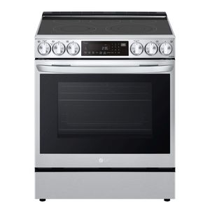 """LSEL6335F LG 30"""" Electric Slide-in Range 6.3 cu.ft with Air Fry ProBake Convection and Wi-Fi - Printproof Stainless Steel"""