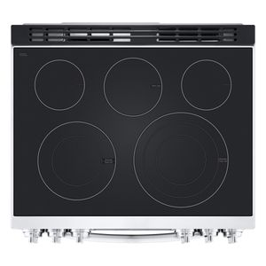 """LSEL6337F LG 30"""" Electric Slide-in Range 6.3 cu.ft with Air Fry ProBake Convection Wi-Fi Air and SousVide - Printproof Stainless Steel"""