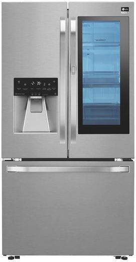 """LSFXC2496S LG Studio 36"""" 23.5 cu. ft. Capacity Counter Depth French Door Refrigerator with InstaView Window and ColdSaver Panel - Stainless Steel"""