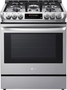 LSG4511ST LG 6.3 Cu. Ft.Capacity Slide-In Gas Range with ProBake Convection and EasyClean Technology - Stainless Steel