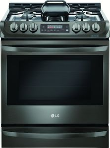 """LSG4513BD LG 30"""" 6.3 cu. ft. Gas Slide-in Range with ProBake Convection - Black Stainless Steel"""
