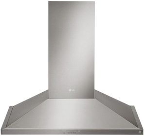 "LSHD3080ST LG Studio 30"" Wall Mount Chimney Range Hood with 600 CFM and 5-Speed IR Touch Controls - Stainless Steel"