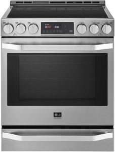 """LSIS3018SS LG 30"""" Studio Slide-In Smart Induction Range with ProBake Convection - Stainless Steel"""