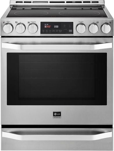 """LSSE3026ST LG Studio 30"""" Slide-In Electric Range with 5 Radiant Elements - Stainless Steel"""