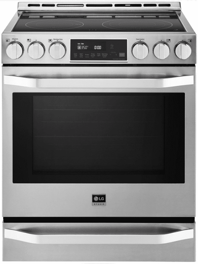 LSSE3027ST LG Slide-In Electric Range with Wi-Fi Connectivity and Voice Commands - Stainless Steel