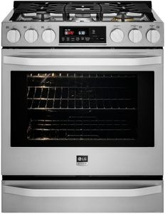 LSSG3017ST LG Studio Slide-In Gas Range with Wi-Fi Connectivity and Voice Commands - Stainless Steel