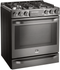 "LSSG3020BD LG Studio 30"" Slide-In Gas Range with Wi-Fi Connectivity and Voice Commands - Black Stainless Steel"