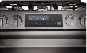 """LSSG3020BD LG Studio 30"""" Slide-In Gas Range with Wi-Fi Connectivity and Voice Commands - Black Stainless Steel"""