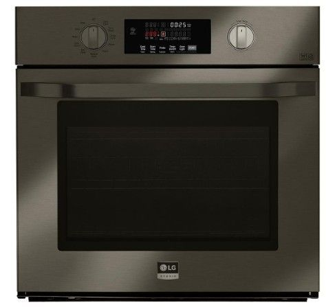 Lsws300bd Lg 30 Smart Wifi Enabled Built In Single Electric Wall Oven With Self Clean And Easy Print Proof Black Stainless Steel