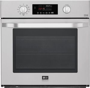"LSWS307ST LG Studio 30"" Smart WiFi Enabled Built-in Single Electric Wall Oven with Self Clean and Easy Clean - Stainless Steel"