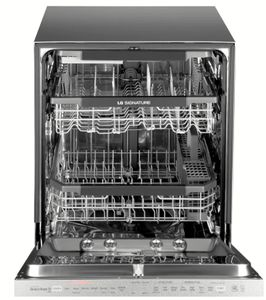 """LUDP8997SN LG 24"""" Signature Series Top Control Fully Integrated Dishwasher with SmartThinq and QuadWash - Textured Steel Finish"""