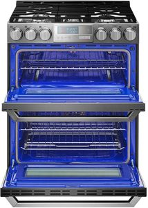 "LUTG4519SN 30"" LG Signature Slide-In Gas Range with ProBake Convection and EasyClean Technology - Textured Steel"