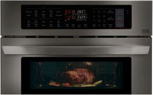 """LWC3063BD LG 30""""  Smart WiFi Enabled Combination Wall Oven with Infrared Heating and Crisp Convection - Black Stainless Steel"""