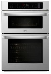 "LWC3063ST LG 30""  Smart WiFi Enabled Combination Wall Oven with Infrared Heating and Crisp Convection - Stainless Steel"