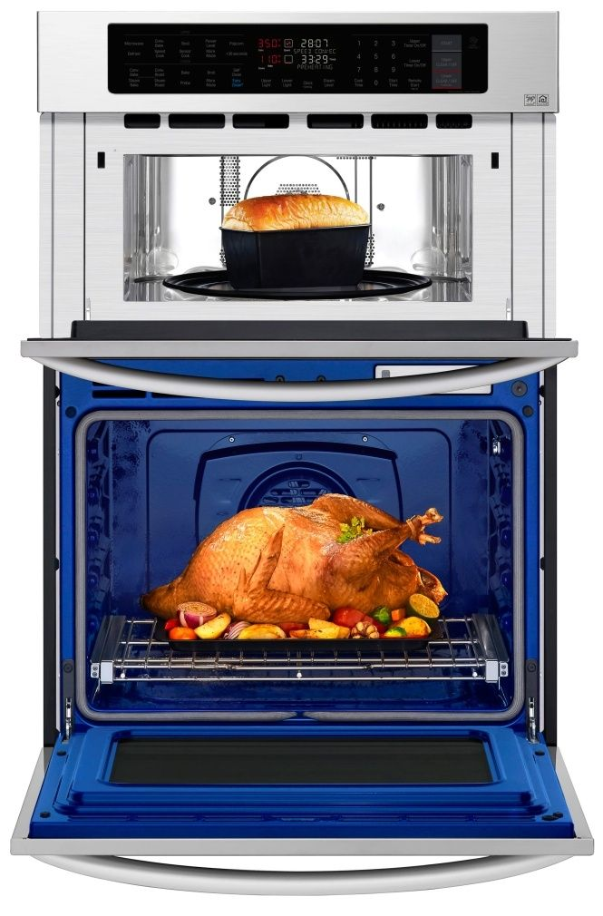 Lwc3063st Lg 30 Smart Wifi Enabled Combination Wall Oven With Infrared Heating And Crisp Convection Stainless Steel