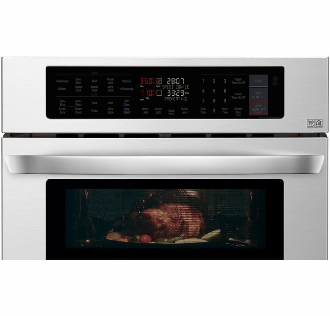 Lwc3063st Lg 30 Smart Wifi Enabled Combination Wall Oven With Infrared Heating And Crisp Convection Stainless